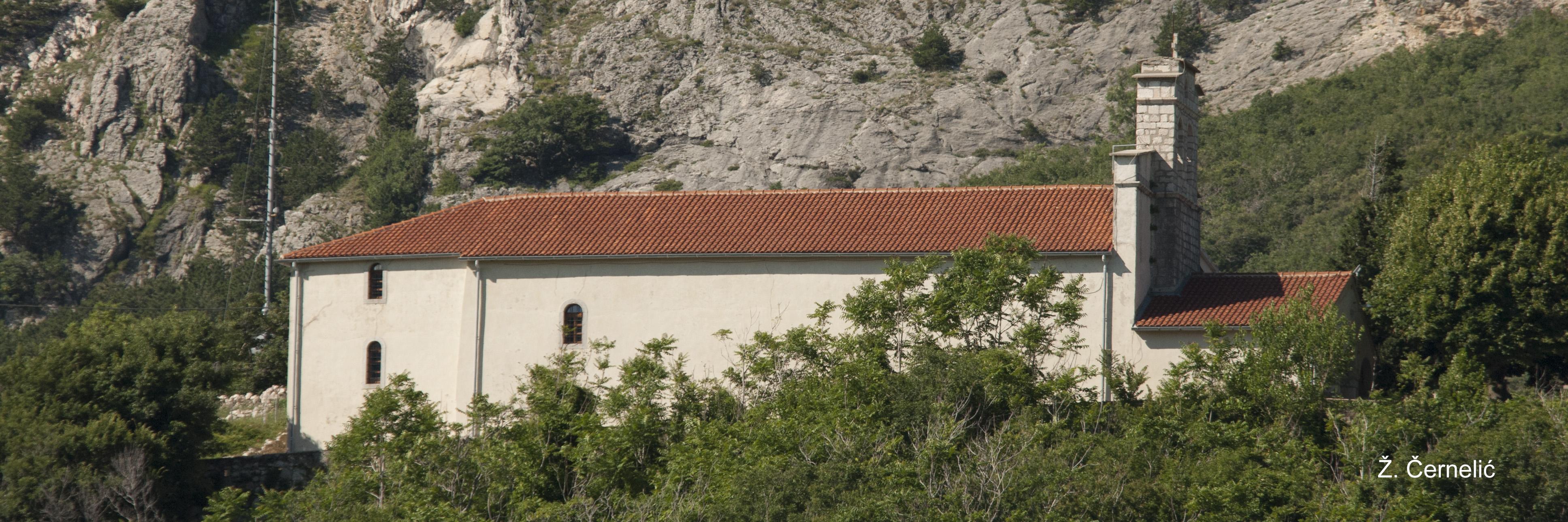 Pogled na Svetište iz Drage Bašćanske